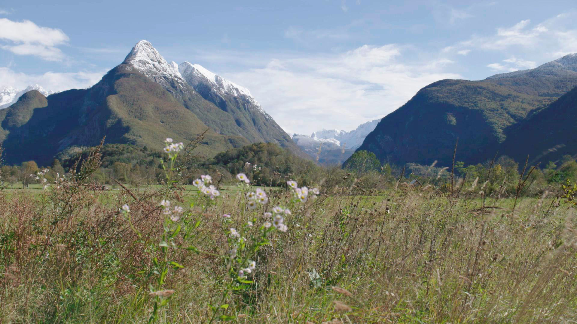 02 Blick auf den Triglav den höchsten Berg Sloweniens